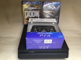 Sony PlayStation 4 Slim 500gb VGC with Brand New Controller and 2 New Sealed Games £200