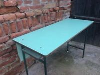 Vintage Retro Iconic School Table Statement Furniture Dining, Side Display Desk