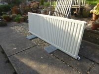 165 cm Single Panel Central Heating Radiator with TRV