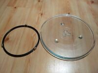 Microwave glass plate and ring