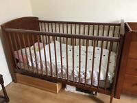Mamas and papas 3 piece nursery set plus mattress