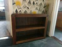 BAUMHAUS SHIRO SOLID WALNUT LOW BOOKCASE RRP.£349