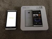 HTC One M7 - 32GB - Silver - Unlocked - MINT Condition, BY DR DRE {DRE BEATS}