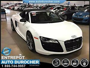 2012 Audi R8 5.2L QUATTRO AWD BLUETOOTH CONVERTIBLE CAMERA