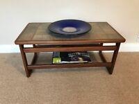 Vintage Retro Gplan Tile Top Teak Coffee Table with Magazine Rack