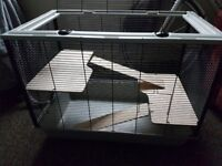 The Langham Tall Rat and Hamster Cage with Two Floors - Grey