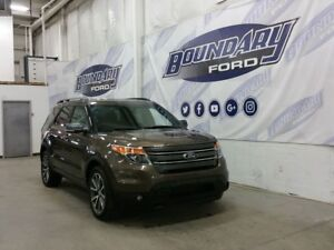 2015 Ford Explorer XLT W/ V6, 4WD, Leather/Micro-suede