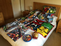 "** Great Condition ** - ""The Avengers"" Bedroom Theme incl Bedding, Blackout Curtains & Accessories"
