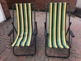 2 Grand Soleil ( Italian ) Full Size Deck Chairs