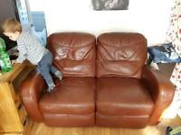 Free leather recliner couch