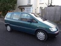 2002 Vauxhall Zafira 1.6 7 Seater Ideal Family Car