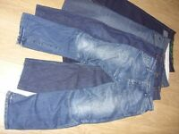 4 x Pairs of Mens Jeans / Denims Bundle - Size 34 x 32 / 34S Great Used Condition - £10 for the Lot