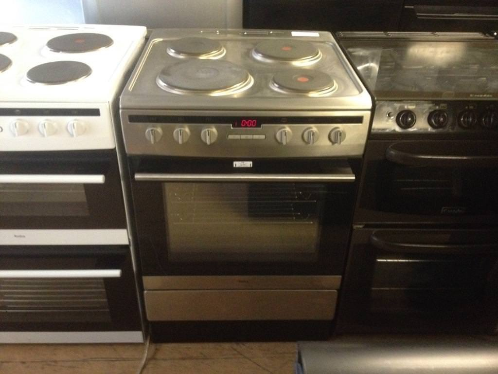 Silver 60cm electric cooker