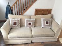 Large 3 seater Sofa Cream