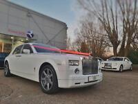 ROLLS ROYCE PHANTOM HIRE FERRARI LAMBORGHINI BENTLEY WEDDINGS PROMS