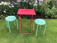 Folding Garden Picnic Camping Table & Stools
