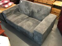 GREY CORD TWO SEATER SOFA (Delivery available)