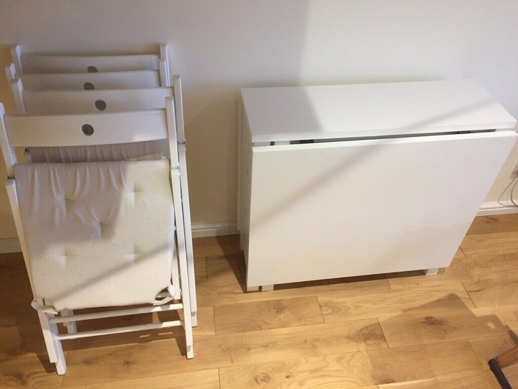1 Ikea Norden Foldable Dining Table And 4 Terje Chairs In Camden London Gumtree