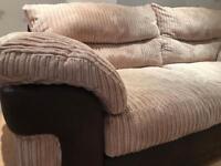 Large 2/3 seater sofa excellent condition beige super soft & comfy