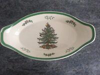 Spode Christmas Tree vegetable dish