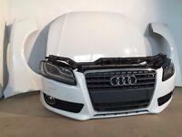 One unit: OEM Front end Audi A5 8T3 2 TFSi 2009 - 2015 Left hand drive headlights bonnet radiator