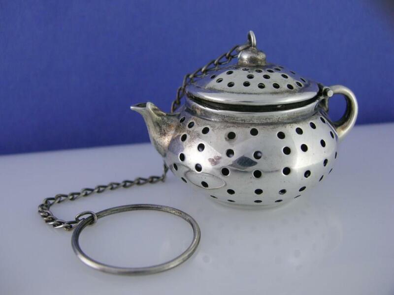 Wonderful Sterling WATSON Tea Ball - figural Kettle / Teapot form - no.7086