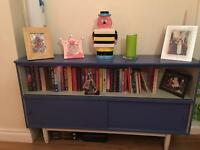 Retro one of a kind blue bookcase/cabinet