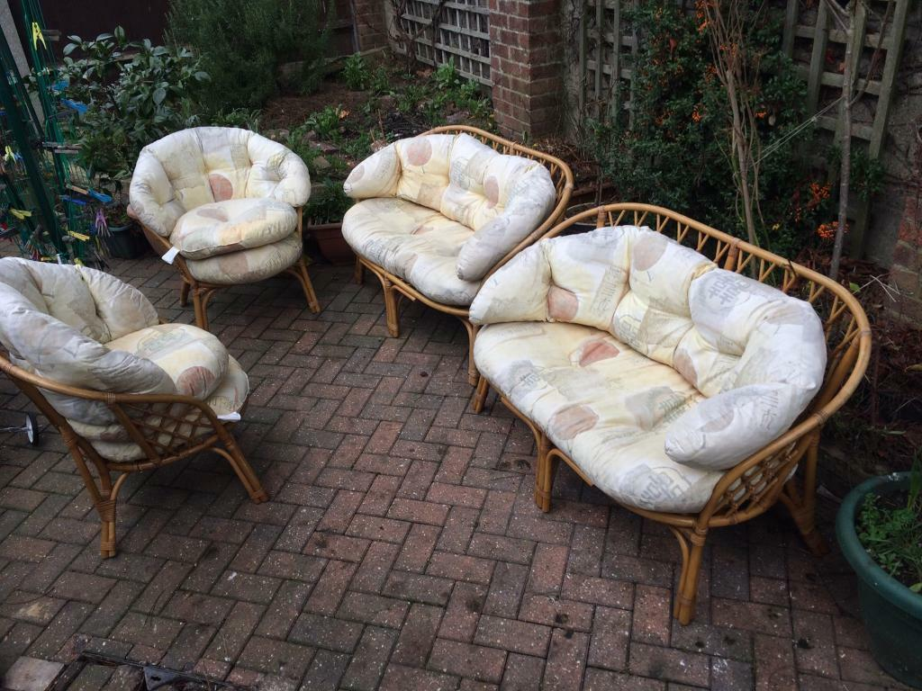 Cane furniturein Norwich, NorfolkGumtree - Cane furniture cane sofa £35 each chairs £20 each.Cushions in good condition.Can arrange delivery within the Norwich area for an extra fee