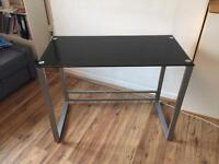 Black Glass Top Desk (nearly new condition)