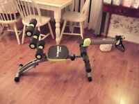 Wonder Core 2 Wonder Core 6 in 1 Home Gym Exercise System Ab with Toning & Roweing seat 3 mouths old