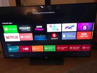 "Sony Bravia 55"" Android led razor thin voice control Bluetooth"