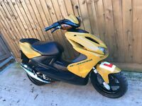 Yamaha aerox 50cc scooter moped 12 months mot