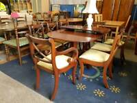 Modern extending table and 8 chair set