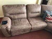 Perfect condition large recliner corner sofa
