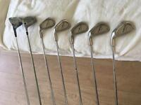 Left handed golf clubs set. Irons & woods