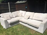 DFS grey corner sofa - great condition
