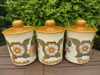 Ashdale Pottery Storage Jars Tea Sugar Coffee FOR SALE