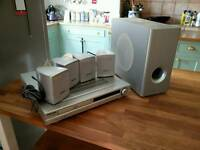 Minato DVD home theatre with surround sound and subwoofer. Working fine.