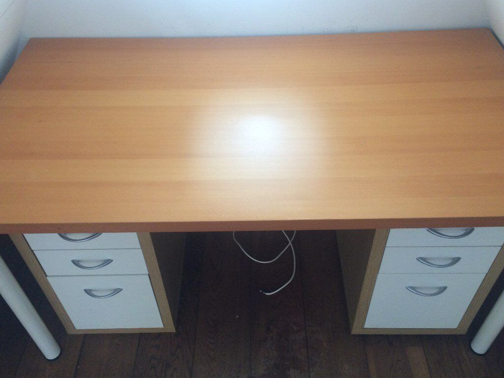 Desk with drawersin Cosham, HampshireGumtree - Desk with matching but separate filing cabinets. Approximately 1.30 m x 1.00 m. Can provide more accurate measurements if needed. Pick up from 4th floor in Southsea only. Excellent condition, barely used