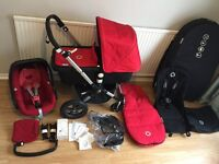 PRISTINE / Bugaboo Cameleon 3 + Carrycot + MAXI COSI Pebble + Travel Bag + Footmuff