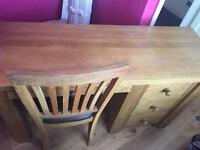 Desk/ dressing table and chair