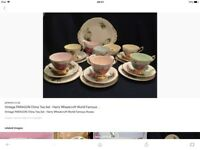 Paragon.Harry Wheatcroft Summer Roses tea set