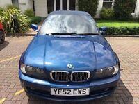 BMW 3 SERIES convertible E46 2002 Manual 2.0 Petrol blue 2 doors