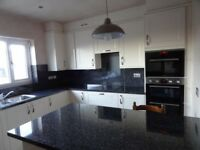 KITCHEN WORKTOP AND BACKBOARD