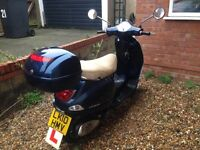 Vespa 125 cc moped great condition motorbike bike scooter perfect runner, auto smooth 125cc classic