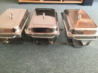 Chaffing dish stands and lids
