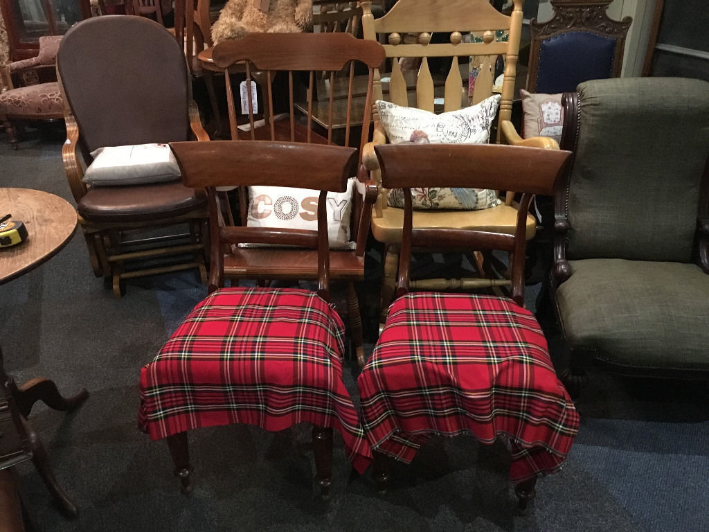 Occasional Bedroom Chairs Pair Of Victorian Hardwood Parlour Dining Hall Occasional