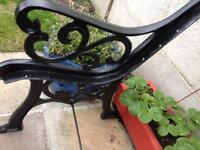 Cast iron end chair or bench, strong,heavy