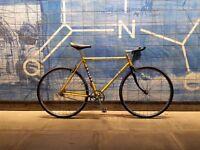 Stunning bespoke retro single speed bike SMALL yellow BSA