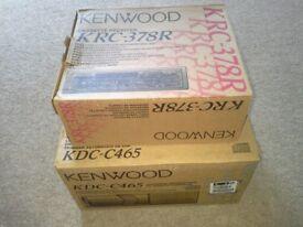 Kenwood KRC - 378R cd cassette player and Kenwood KDC - C465 6 disc changer